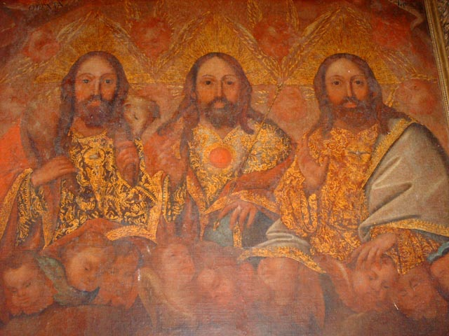 Holy Trinity painting, Iglesia de Nata, Church of Nata, Cocle, Panama